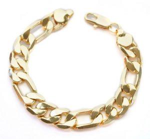 bracelet homme en or et argent