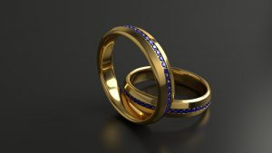 Une alliance diamant pour sa demande en mariage